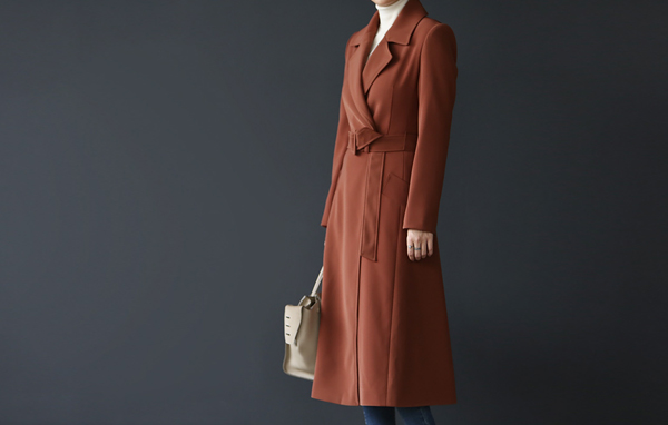 Lady long trench coat